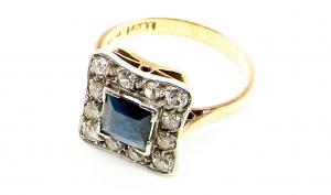 art deco sapphire ring