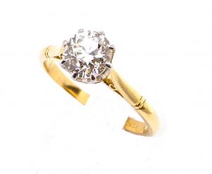 A fine 1.25 carat solitaire diamond ring