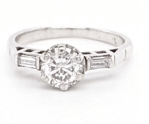 vintage solitaire diamond ring
